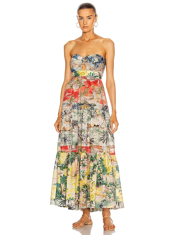 Juliette Tie Front Dress in Spliced