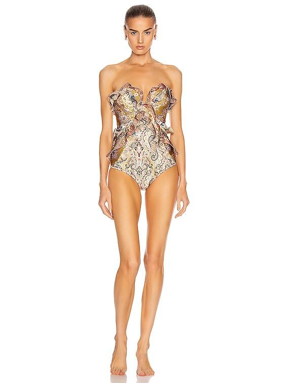 Freja Spliced Frill Swimsuit in Spliced