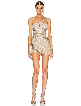 One Shoulder Corset Dress