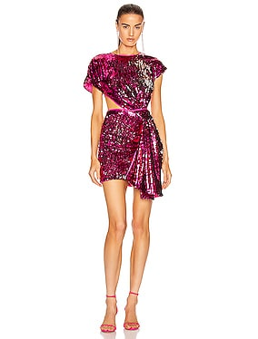 Electric Orchid Mini Knot Dress