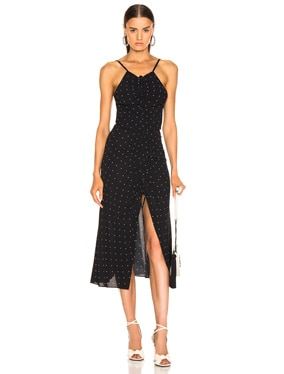 Oscar Rouched Midi Dress