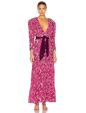 Flower Bloom Ruffled Long Dress
