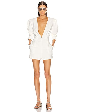 Voluminous Sleeve Romper