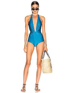 Solid Halterneck Swimsuit