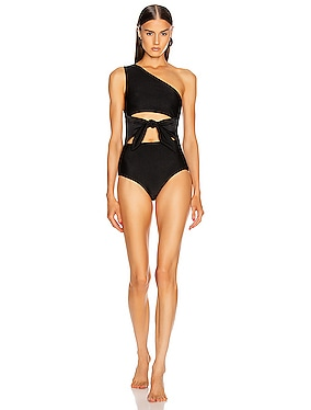 Tulip One Shoulder Swimsuit With Knot