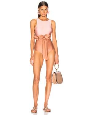 Bicolor Clochard Swimsuit With Straps