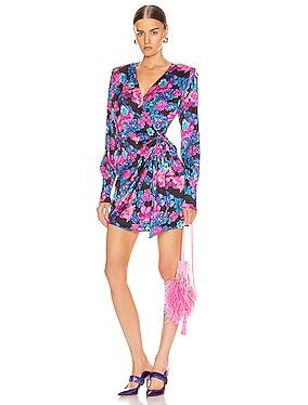 Carly Wrap Mini Dress