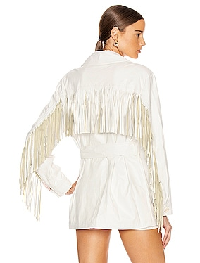 Cher Faux Leather Fringe Jacket