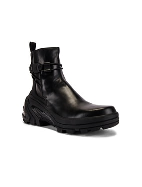 Low Buckle Boot With Fixed Sole