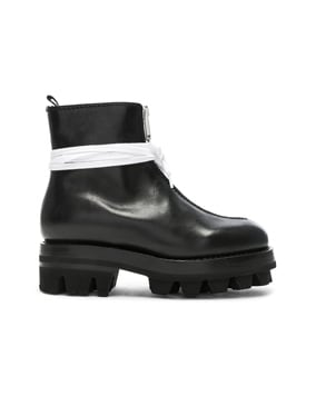 Leather Tank Boots