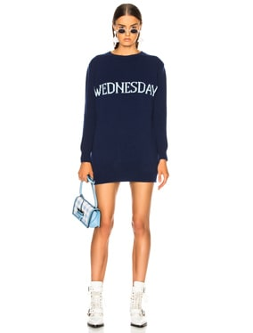 Wednesday Crewneck Sweater Dress
