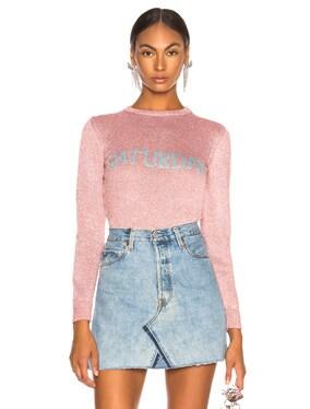 Saturday Lurex Crewneck Sweater