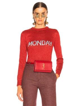 Monday Lurex Crewneck Sweater