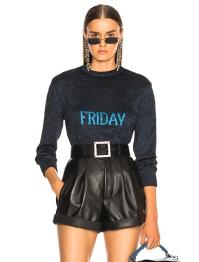 Friday Lurex Crewneck Sweater