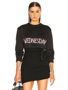 Wednesday Lurex Crewneck Sweater