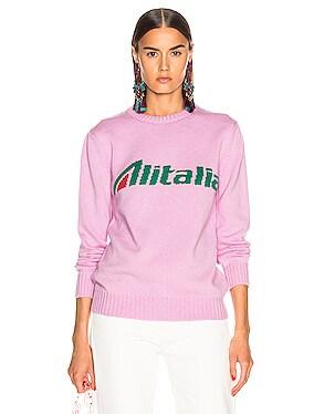x Alitalia Logo Sweater