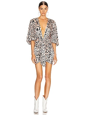 Plunging Leo Mini Dress