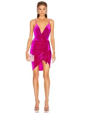 for FWRD Sleeveless Ruched Velvet Mini Dress