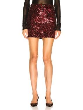 Zebra Sequin Mini Skirt