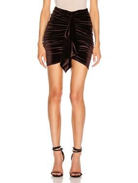 Velvet Jersey Mini Skirt