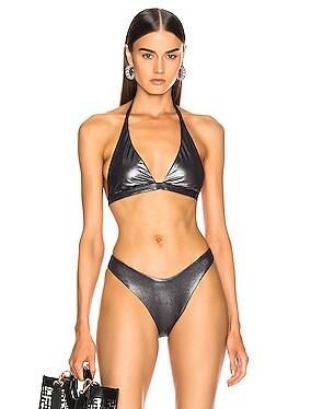 Savory Metallic Bikini Top