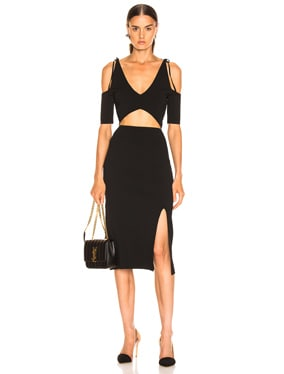 Giovanna Slit Midi Dress