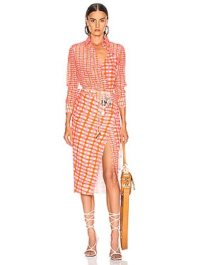 Constantina Plaid Dress