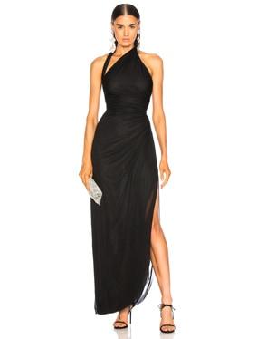 Drape Jersey Halter Gown