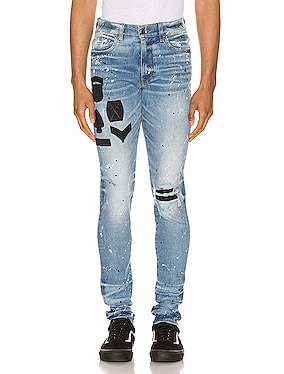 Painted Military Patch Jean