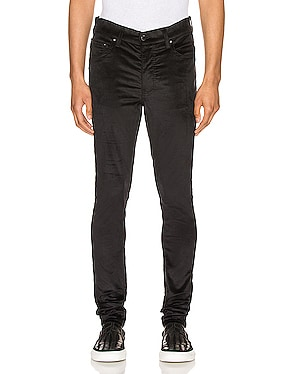 Velour Skinny Stack Pants