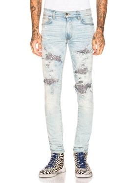 Sequin Zebra Jeans