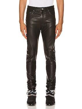 5 Pocket Leather Pant