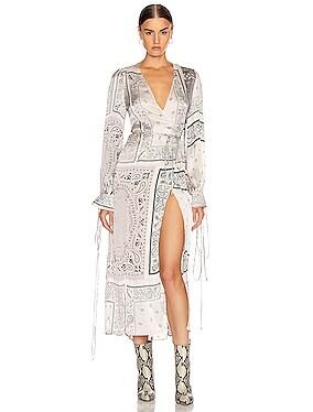 Bandana Reconstructed Kimono Dress