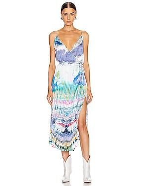 Tie Dye Wrap Tank Dress