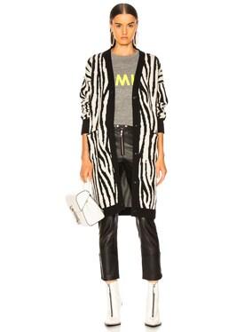 Zebra Long Cardigan