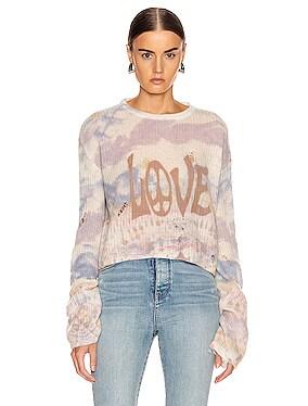 Tie Dye LOVE Sweater