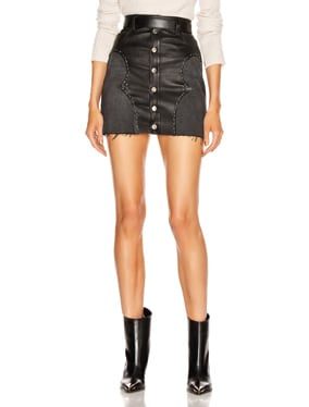 Western Mix Mini Skirt