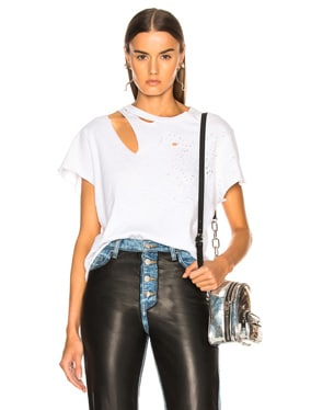 Cropped Slash Tee