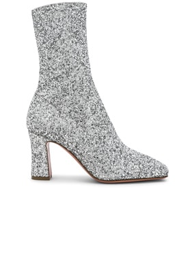 Glitter Stretch Sabrina Ankle Boots