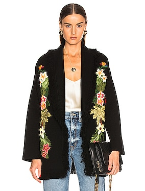 Hawaiian Nature Embroidered Cardigan