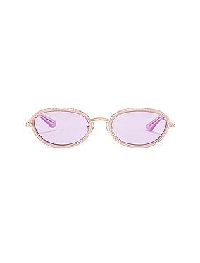 Crystal Oval Sunglasses
