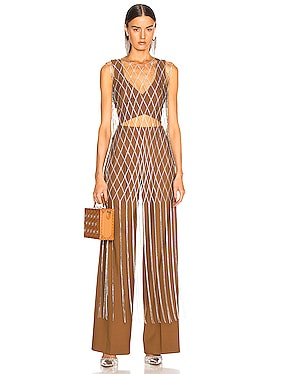 Crystal Fishnet Dress