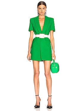 Bonded Short Sleeve Blazer Dress