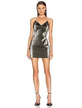 Crystal Choker Strap Mini Dress