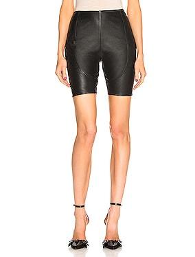 Leather Bike Short