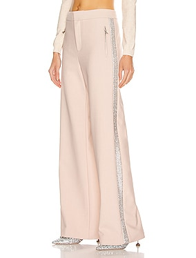 Crystal Stripe Wide Leg Trouser Pant