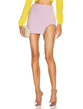 Crystal Fishnet Mini Skirt