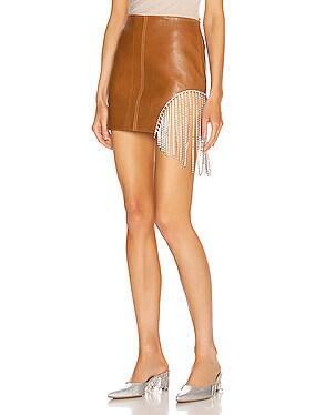 Crystal Fringe Mini Skirt