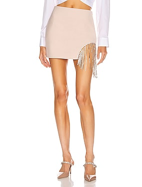 Crystal Fringe Skirt