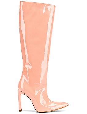Patent Knee High Boot